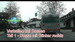 Verhalten bei Bussen Teil 1 - Bus mit Blinker an d. Haltestelle Fahrstunde Prüfungsfahrt