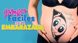 PINTANDO LA BARRIGUITA DE EMBARAZADA | dibujos fáciles para barriga de embarazada