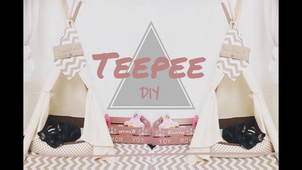 Diy dog teepee cabana tenda pinterest tumblr for Dog tipi diy