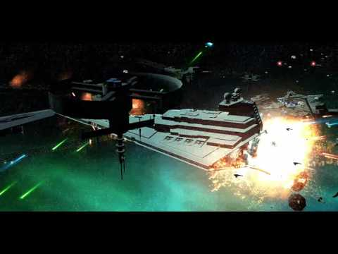 Star Wars - New Republic Fleet VS Imperial Remnant [LEGENDS]