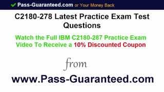 C2180-278 - Exam Test Questions PDF Answers