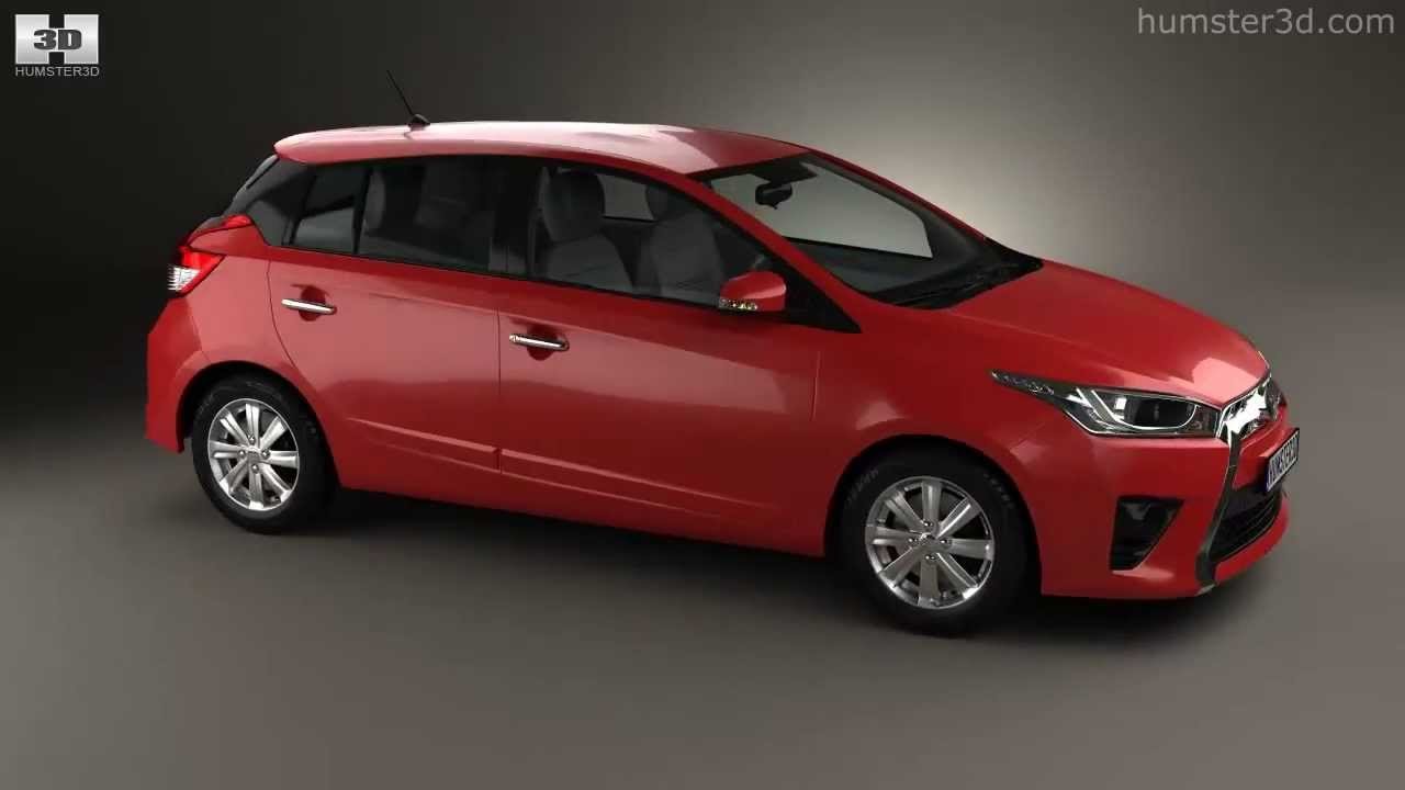 Toyota Yaris 5 Door Hatchback 2014 By 3d Model Store