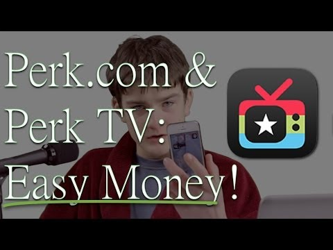 Perk.com (Perk TV) - Make Money for Watching Videos - Make Money With Your Smartphone