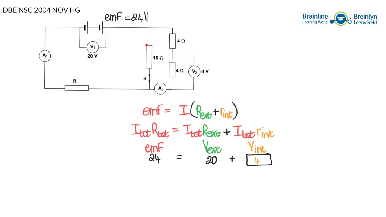 Grade 12 Physical Sciences Solving Electric Circuits Tutorial