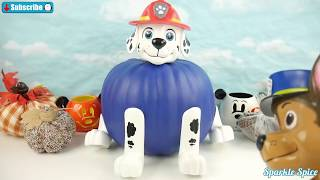 Paw Patrol Color Changing Halloween Pumpkin with Chase and Marshall Flick Boogers for Candy Toys
