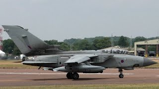 MEGA LOUD RAF Tornado GR4s Departing RIAT 2018