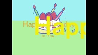 『Happy Birthday to You!』 作詞・作曲:まひる (2004~2005) まだ 見...