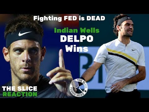 How Del Potro Beat Federer at Indian Wells | THE SLICE