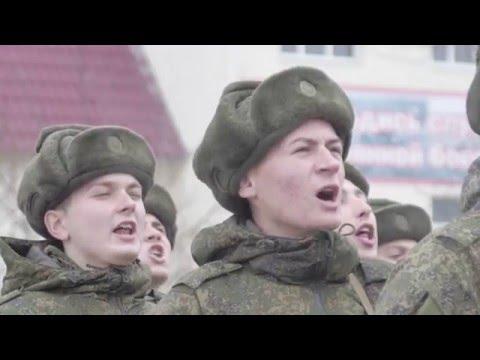 Вручение боевого знамени части 97 отдельного путевого батальона железнодорожных войск ЮВО