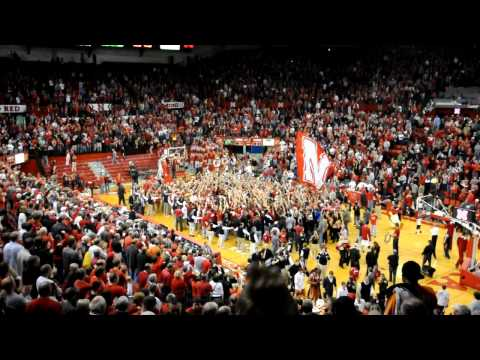 Nebraska vs. Texas 2/19/11: Storming the Court
