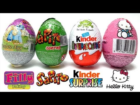 kinder surprise filly the unicorn hello kitty sapito surprise chocolate eggs unwrapping. Black Bedroom Furniture Sets. Home Design Ideas