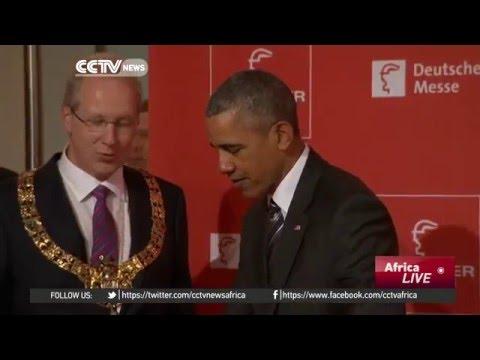 Obama meets Merkel in Hannover