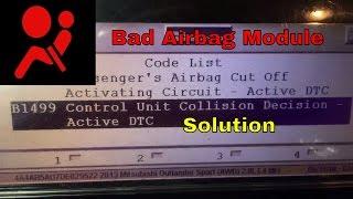 Mitsubishi airbag code B1499 collision decision