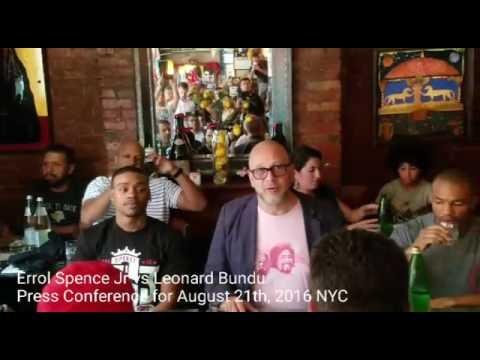 Errol Spence Jr vs Leonard Bundu Press Conference for Sunday Aug 21th Match up in Coney Island.