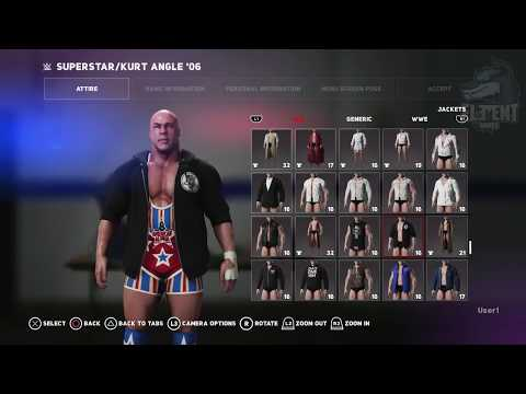 WWE 2K18 Superstar Studio - Creating a Custom Kurt Angle Attire (PS4 Pro)