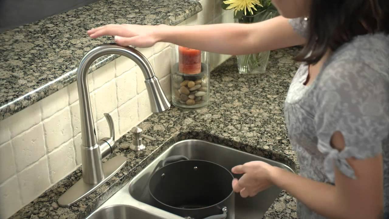 features of the moen delaney motionsense faucet