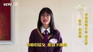 [中国诗词大会]她把中国最美的秋天唱给世界听  CCTV