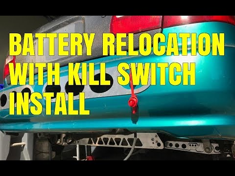 civic battery relocation with kill switch (diy)