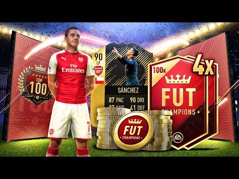 FUT Champions ULTIMATE TOTW PACK | OMG WE GOT ALEXIS!?! | TOP 100 REWARDS