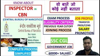 inspector in central bureau of narcotics job profile | exam process | salary | promotion