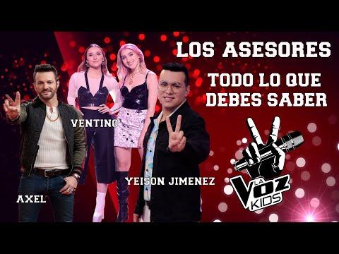 LA VOZ KIDS COLOMBIA 2021 ???? conoce TODO sobre los asesores, VENTINO, AXEL y YEISON JIMENEZ ????