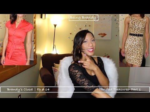 b6629cc5ff BRANDY'S CLOSET -EP #14 | Thrift Haul + Try On | Being Brandy - YouTube