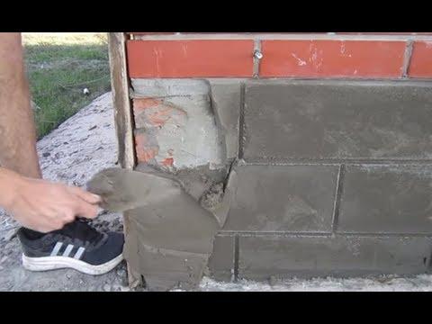Дешево и сердито. Отделка цоколя цементным раствором.