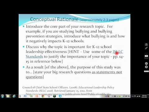 """Conceptual Rationale section """"How to"""" video"""