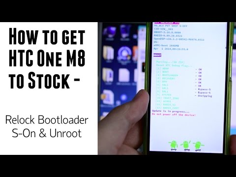 How to return HTC One M8 (using VZW) to stock - S-On - Relock Bootloader - Unroot/Uninstall SuperSu
