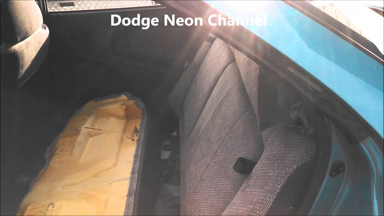 Speaker removal Dodge Neon 1997 Remove replace install. How to remove speakers rear deck. - YouTube
