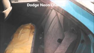 Speaker Removal Dodge Neon 1997 Remove Replace Install.  How To Remove Speakers Rear Deck.