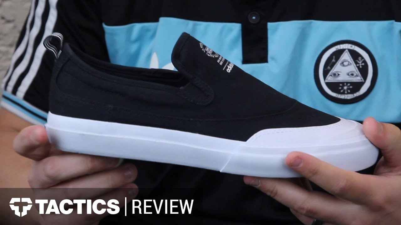 fb2d9cb3eb42 Adidas Matchcourt Slip Skate Shoes Review - Tactics.com