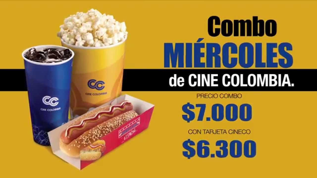 Comercial cine colombia ref mi rcoles youtube for Cines arenys precios