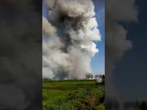 Así fue el terrible momento de la explosión en Tultepec