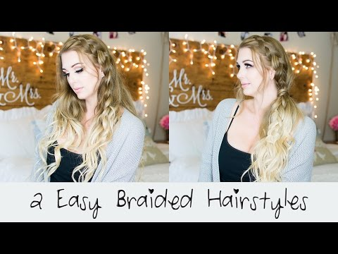 2 Easy Braided Hairstyle Tutorials || Foxy Locks Extensions || Honey Spice Ombre