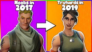 "How the ""NOOB"" Skin was created in Fortnite (evolution of Noobs 2017 - 2019)"