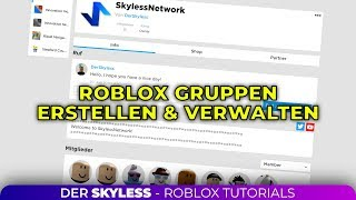 Create and manage Roblox Groups! | German