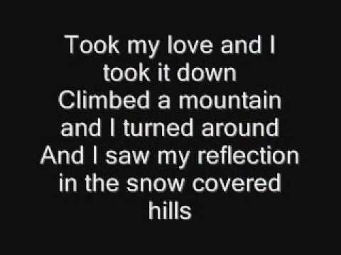 Landslide lyrics ON SCREEN!!!  : - ]