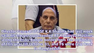 Rajnath singh calls meet of cms of states bordering bangladesh