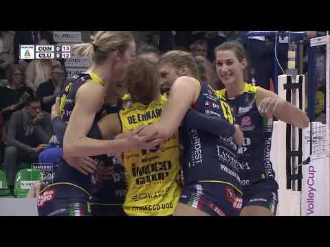 #Pallavolo A1 femminile - Conegliano-Club Italia 3-1: highlights