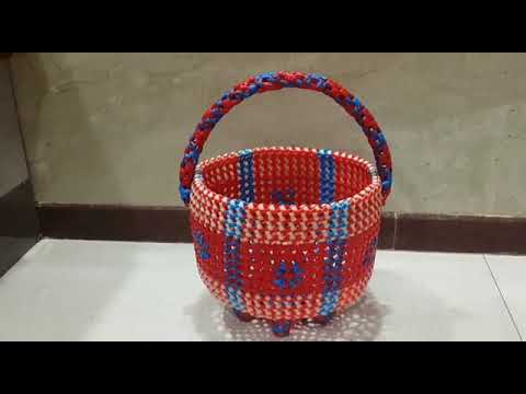 M.k.Plastic Wire Works (Border Design Pooja Basket)