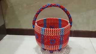 M.k.Plastic Wire Works (Border Design Pooja Basket)