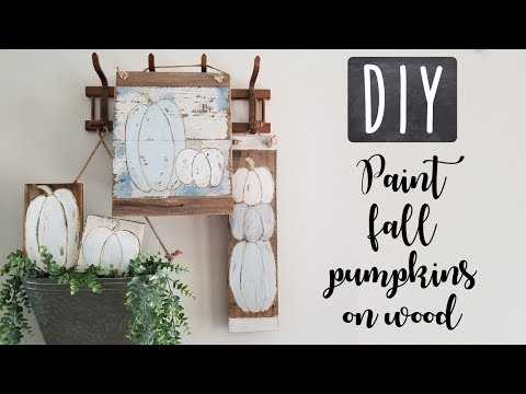 DIY • Painting fall pumpkins on wood • home decor