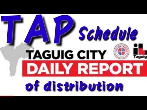 TAP SCHEDULE OF DISTRIBUTION | TAP DISTRIBUTION | TAP BARANGAY SCHEDULE | TAGA TAGUIG TV