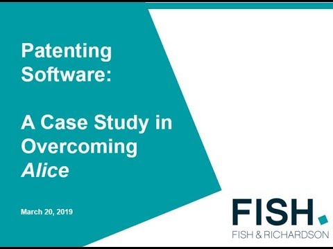 Webinar | Patenting Software: A Case Study In Overcoming Alice