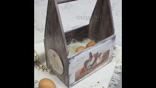 Decoupage on wood tutorial - DIY. How to make Shabby Chic box. Transfer images or photo.(, 2015-03-25T06:48:03.000Z)