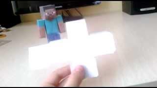 Майнкрафт из бумаги ( 1 серия )