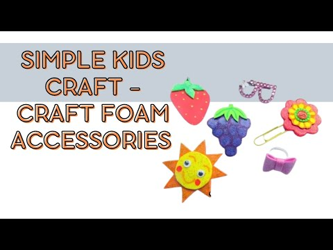 Simple kids craft - craft foam accessories and planner book mark