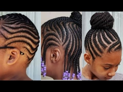 Beautiful Back To School Hairstyles For Black Kids October November Cornrows.