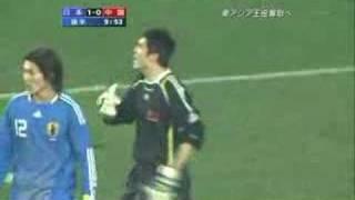 日本vs中国(飛び蹴り)
